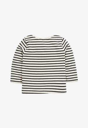 BLACK STRIPE BUNNY T-SHIRT (3MTHS-7YRS) - Long sleeved top - grey