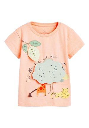 ORANGE FESTIVAL SCENE INTERACTIVE APPLIQUé T-SHIRT (3MTHS-8YRS) - Print T-shirt - orange