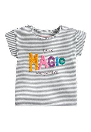 STRIPE MAGIC BOUCLé T-SHIRT (3MTHS-7YRS) - Print T-shirt - blue