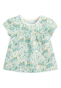 Next - TEAL FLORAL 5 PACK GOTS ORGANIC T-SHIRTS (3MTHS-7YRS) - Blouse - blue - 4