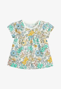Next - TEAL FLORAL 5 PACK GOTS ORGANIC T-SHIRTS (3MTHS-7YRS) - Blouse - blue - 1