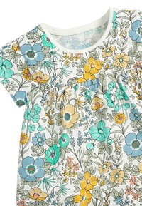 Next - TEAL FLORAL 5 PACK GOTS ORGANIC T-SHIRTS (3MTHS-7YRS) - Blouse - blue - 7