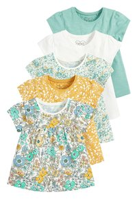 Next - TEAL FLORAL 5 PACK GOTS ORGANIC T-SHIRTS (3MTHS-7YRS) - Blouse - blue - 0