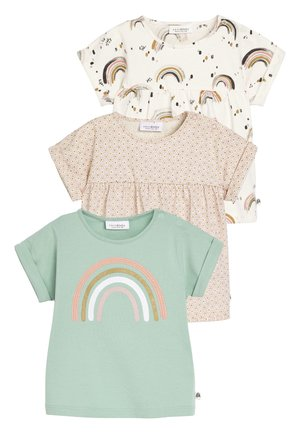 MULTI 3 PACK RAINBOW T-SHIRTS (0MTHS-2YRS) - Blouse - pink