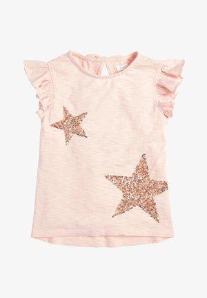 PINK SEQUIN STAR VEST (3-16YRS) - Print T-shirt - pink