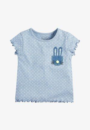 BLUE SPOT BUNNY T-SHIRT (3MTHS-7YRS) - Print T-shirt - blue