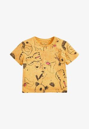 3 PACK - Print T-shirt - yellow/pink/white