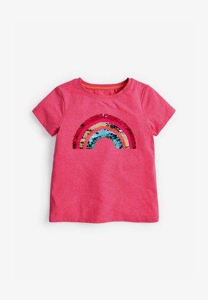 FLIPPY SEQUIN RAINBOW - Print T-shirt - pink