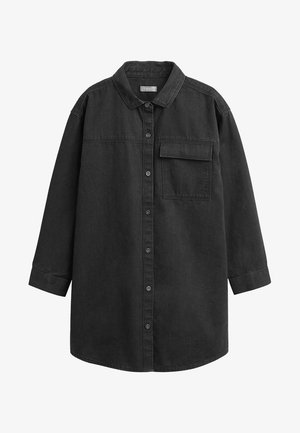 BLACK OVERSIZED DENIM SHIRT (3-16YRS) - Skjorta - black