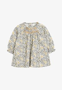 Next - OCHRE/CREAM 2 PACK SMOCK FLORAL TUNIC (0MTHS-2YRS) - Tuniek - off-white - 1