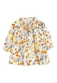 Next - OCHRE/CREAM 2 PACK SMOCK FLORAL TUNIC (0MTHS-2YRS) - Tuniek - off-white - 2