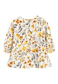 Next - OCHRE/CREAM 2 PACK SMOCK FLORAL TUNIC (0MTHS-2YRS) - Tuniek - off-white - 3