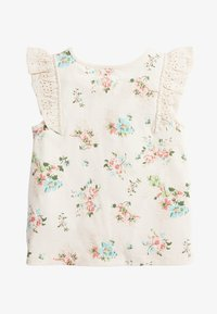 Next - WHITE/PINK BRODERIE FRILL GOTS ORGANIC VEST (3MTHS-8YRS) - Blouse - off-white - 1