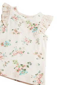 Next - WHITE/PINK BRODERIE FRILL GOTS ORGANIC VEST (3MTHS-8YRS) - Pusero - off-white - 2