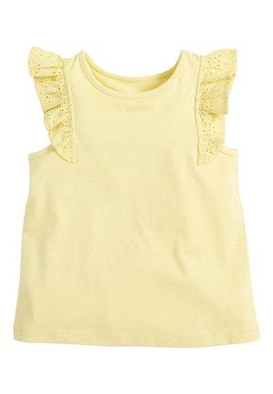 WHITE/PINK BRODERIE FRILL GOTS ORGANIC VEST (3MTHS-8YRS) - Blouse - yellow