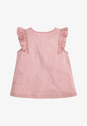 WHITE/PINK BRODERIE FRILL GOTS ORGANIC VEST (3MTHS-8YRS) - Blouse - pink