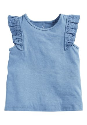 WHITE/PINK BRODERIE FRILL GOTS ORGANIC VEST (3MTHS-8YRS) - Blouse - blue