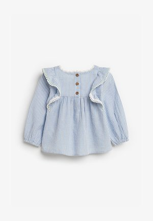 STRIPE EMBROIDERED BLOUSE (3MTHS-7YRS) - Blouse - blue