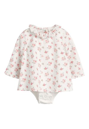 ECRU WOVEN DITSY PRINT INTEGRATED BODY (0MTHS-3YRS) - Blus - off-white