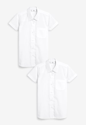 WHITE SHORT SLEEVE FORMAL BLOUSE TWO PACK (3-16YRS) - Košile - white
