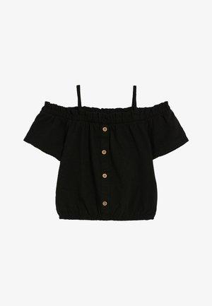 Blouse - mottled black