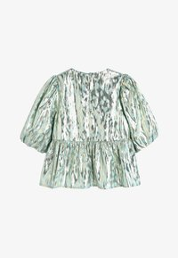Next - MINT PUFF SLEEVE ANIMAL BLOUSE WITH SILK (3-16YRS) - Blus - green - 1