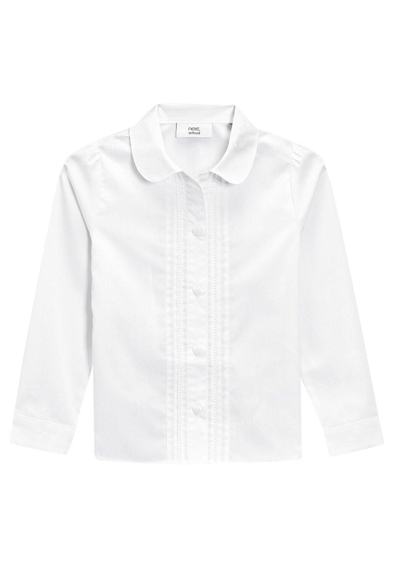 Next - WHITE LONG SLEEVE LACE TRIM BLOUSE (3-14YRS) - Button-down blouse - white