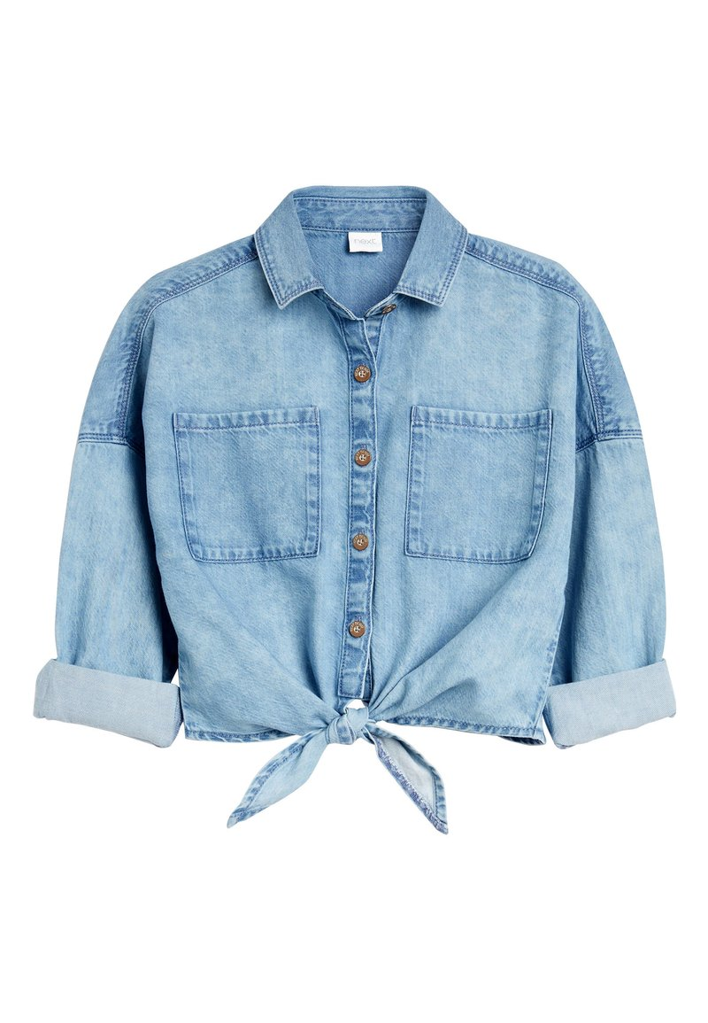 Next - Button-down blouse - blue