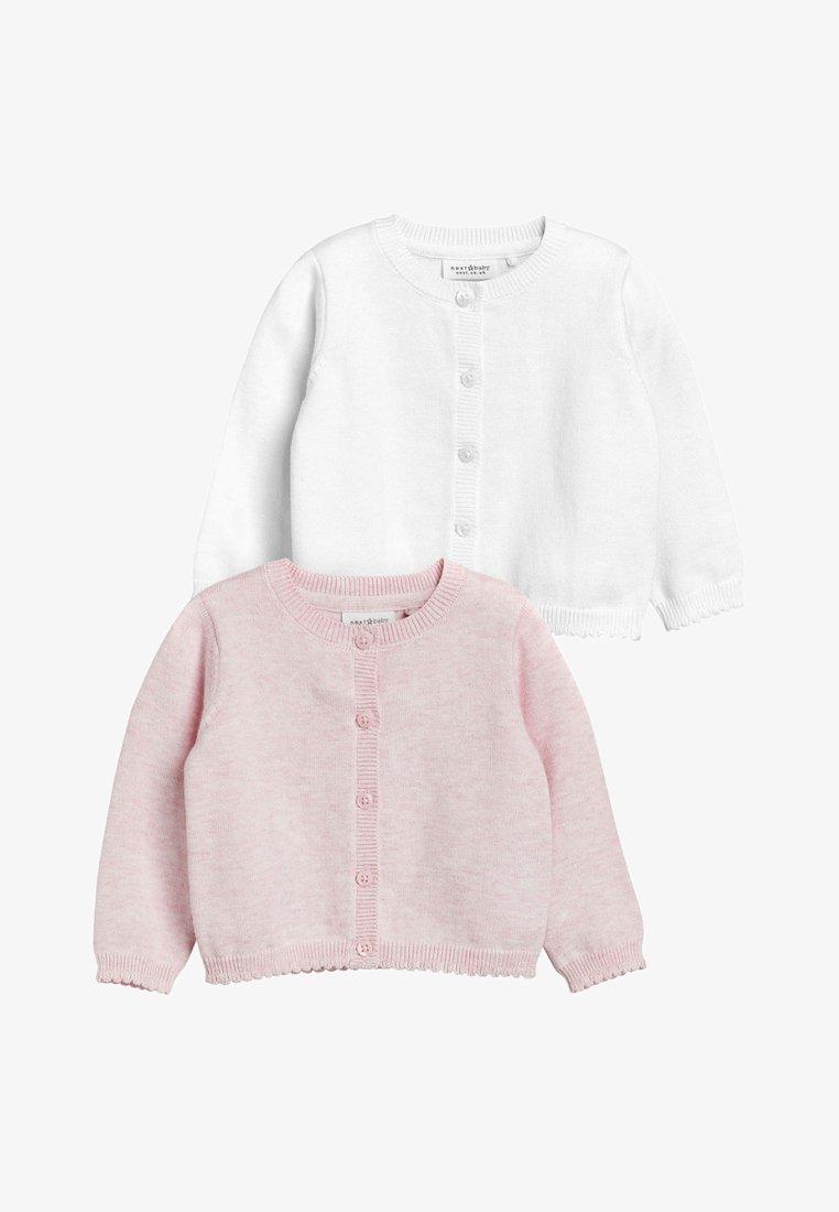 Next - 2 PACK - Cardigan - pink/white