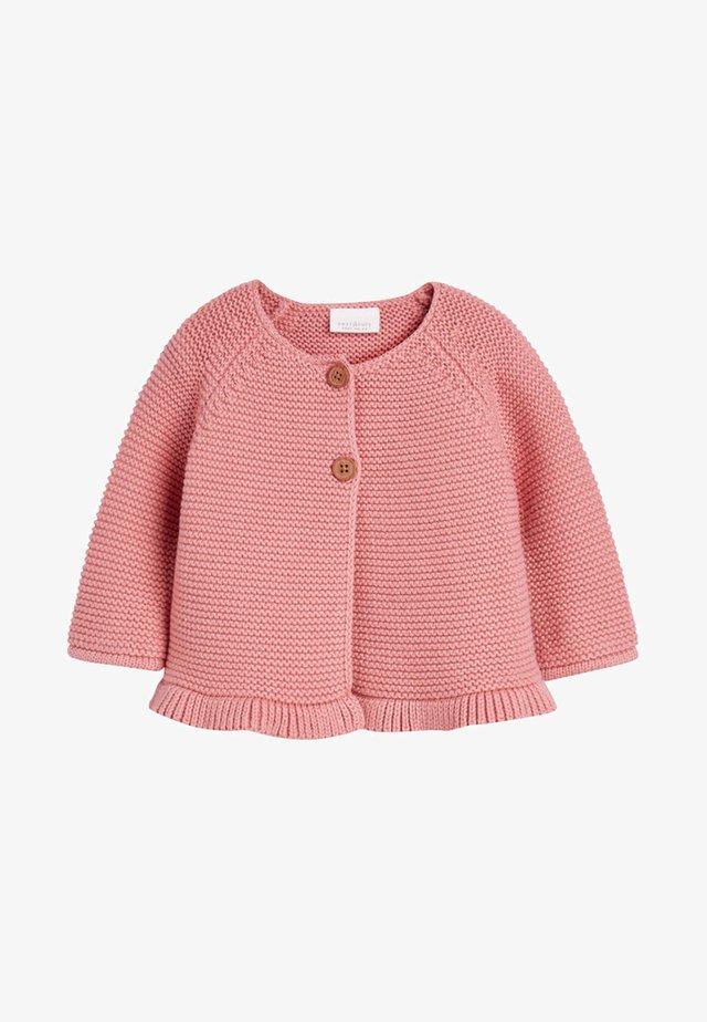 PINK FRILL HEM - Strickjacke - pink
