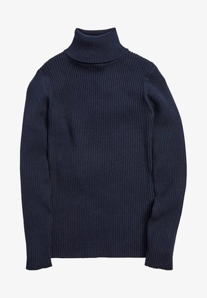 BLACK ROLL NECK TOP (3-16YRS) - Pullover - blue