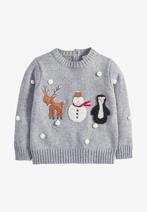 CHRISTMAS CHARACTER  - Neule - grey