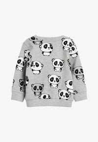 Next - GREY MARL PANDA ALL OVER PRINT CREW NECK SWEATER (3MTHS-7YRS) - Trui - grey - 1