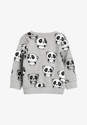 GREY MARL PANDA ALL OVER PRINT CREW NECK SWEATER (3MTHS-7YRS) - Neule - grey