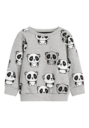 GREY MARL PANDA ALL OVER PRINT CREW NECK SWEATER (3MTHS-7YRS) - Trui - grey