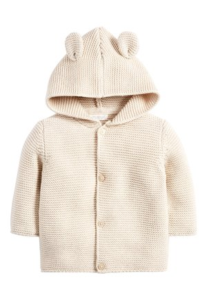 OATMEAL HOODED EAR CARDIGAN (0MTHS-3YRS) - Kardigan - off-white