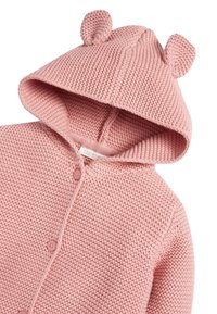 Next - OATMEAL HOODED EAR CARDIGAN (0MTHS-3YRS) - Vest - pink - 2