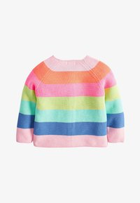 Next - MULTI FLURO RAINBOW STRIPE CARDIGAN (3MTHS-7YRS) - Kardigan - pink - 1