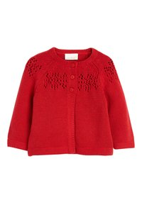 Next - RED KNITTED CARDIGAN (0MTHS-2YRS) - Cardigan - red - 0