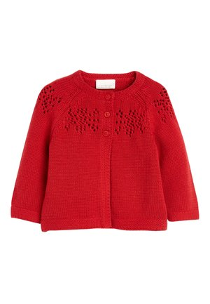 RED KNITTED CARDIGAN (0MTHS-2YRS) - Vest - red