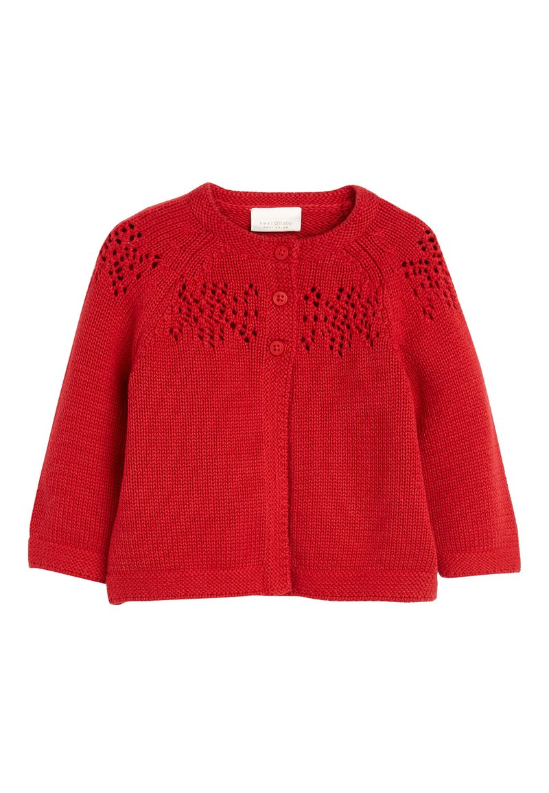 Next - RED KNITTED CARDIGAN (0MTHS-2YRS) - Cardigan - red