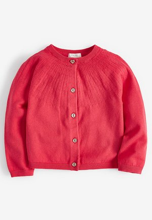 FLURO POINTELLE CARDIGAN (3MTHS-7YRS) - Cardigan - red