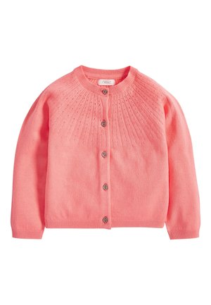 FLURO POINTELLE CARDIGAN (3MTHS-7YRS) - Vest - pink