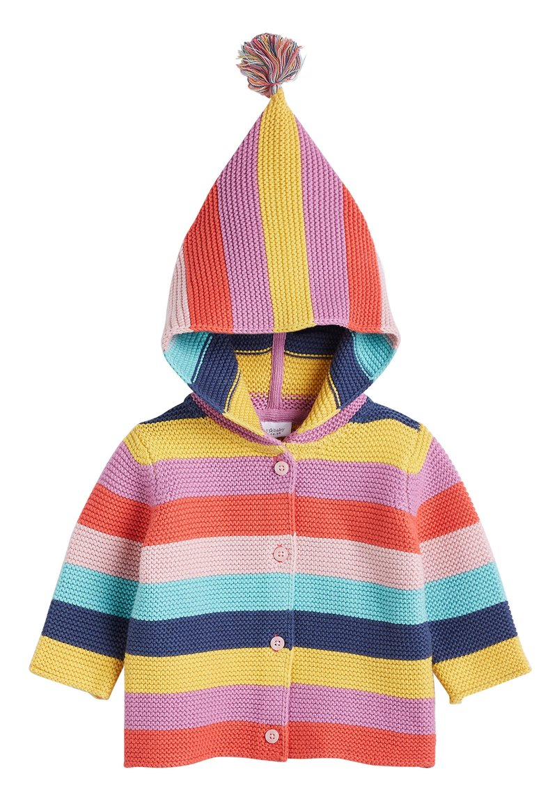 Next - MULTI STRIPE BRIGHT CARDIGAN (0MTHS-3YRS) - Cardigan - pink