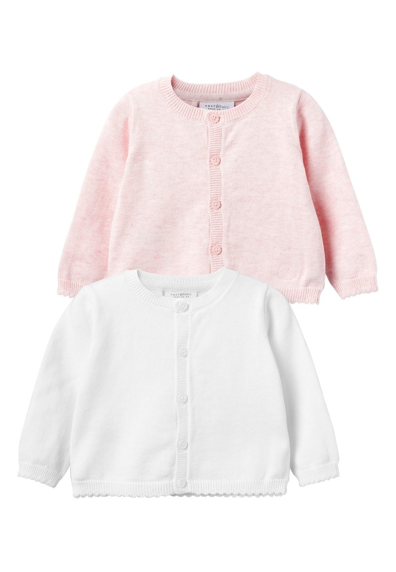 Next - PINK/WHITE 2 PACK CARDIGANS (0MTHS-3YRS) - Vest - pink