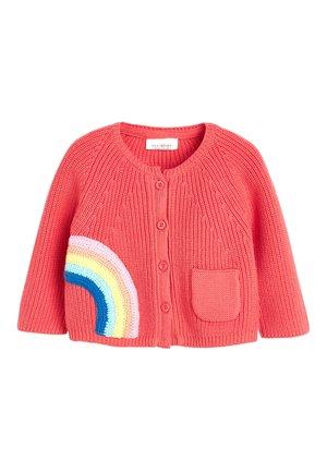 CORAL RAINBOW CARDIGAN (0MTHS-3YRS) - Cardigan - pink