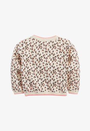 FLURO ANIMAL PRINT CARDIGAN (3MTHS-7YRS) - Vest - pink