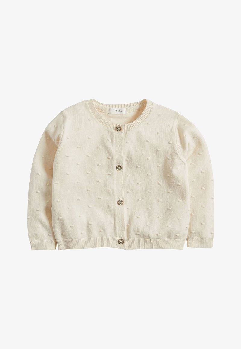 Next - ECRU BOBBLE CARDIGAN (3MTHS-7YRS) - Strikjakke /Cardigans - white
