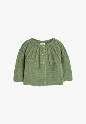 CABLE DETAILED  - Cardigan - green