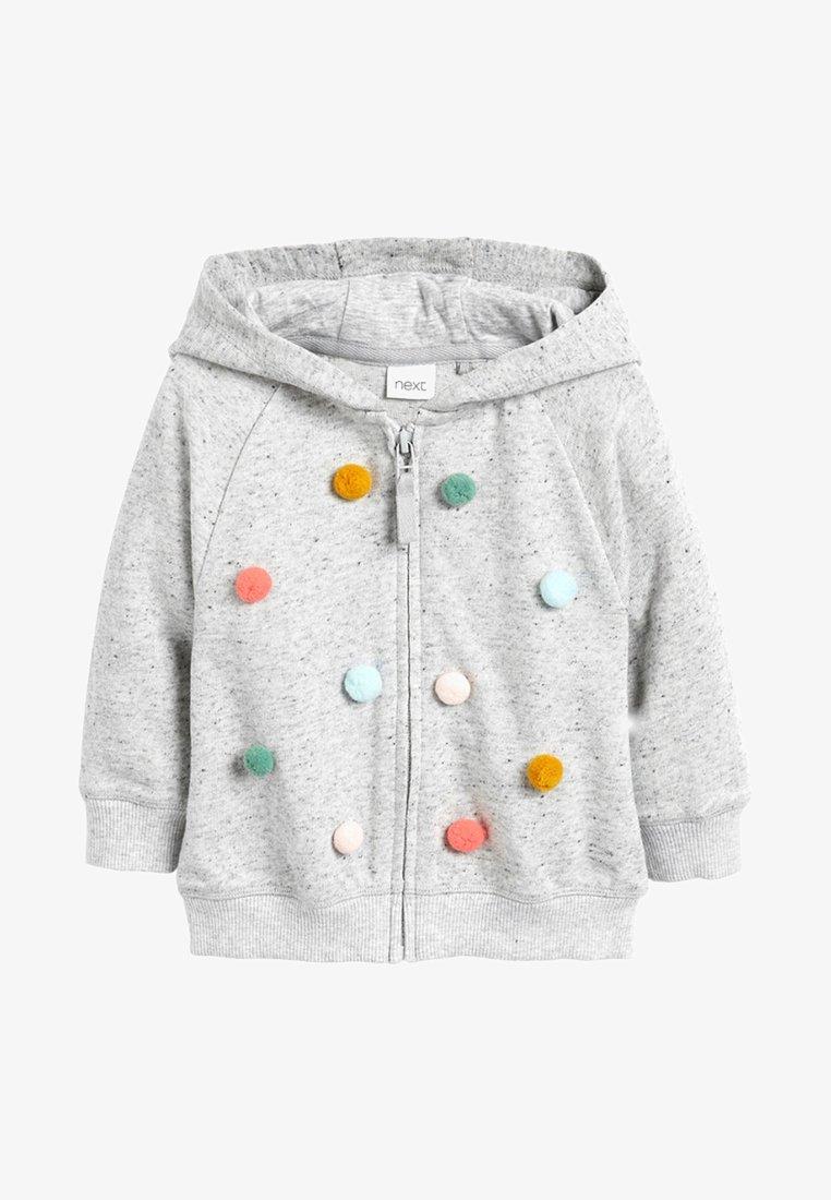 Next - POM POM  - Zip-up hoodie - grey